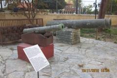 Kanoner vid museet